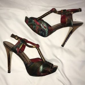 Aldo Exotic Open Toe Stiletto Heels 9